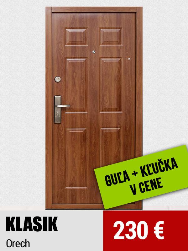 3255c095a7 Bezpečnostné dvere Hisec KLASIK orech
